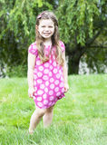 Pretty little girl in a dress Royalty Free Stock Photography