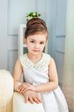 Pretty little girl in dress Stock Photo