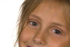 Pretty Little Girl Eyes. Little Girl Eyes smiling royalty free stock images