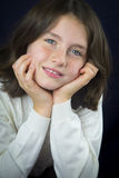 Pretty little girl with freckles Stock Photos