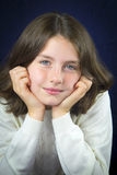 Pretty little girl with freckles Stock Photo