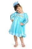 Pretty the little girl full body portrait Stock Photos