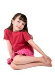 Pretty little girl, isolated Royalty Free Stock Photo