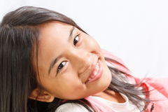 Pretty little girl isolated Stock Photography