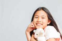 Pretty little girl isolated Stock Photo