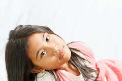 Pretty little girl isolated Royalty Free Stock Photo