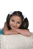 Pretty little girl with long dark hair Stock Photography