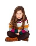 Pretty little girl with long hair Stock Photos