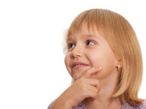 Pretty little girl looking away Royalty Free Stock Image