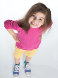 Pretty little girl looks up Stock Photography