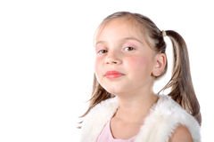 Pretty little girl with pigtails Royalty Free Stock Images