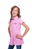 Pretty little girl in the pink shirt Royalty Free Stock Photography
