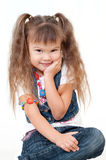 Pretty little girl posing Stock Photo