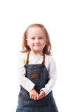 Pretty little girl posing isolated on white. Background Stock Photography