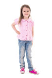 Pretty little girl posing isolated on white Royalty Free Stock Photo