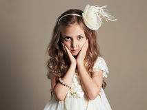 Pretty little girl in princess dress.beautiful child Royalty Free Stock Photos