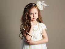 Pretty little girl in princess dress.beautiful Royalty Free Stock Photography