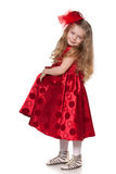 Pretty little girl in red Royalty Free Stock Photo