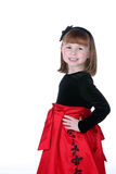 Pretty little girl in red Royalty Free Stock Image