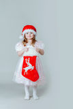 Pretty little girl in red hat Royalty Free Stock Photo