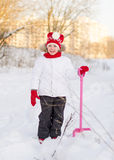 Pretty little girl with shovel. Royalty Free Stock Photography