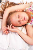 Pretty little girl sleeping Stock Photo