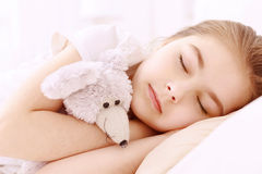 Pretty little girl sleeping well Royalty Free Stock Image
