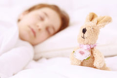 Pretty little girl sleeping well Royalty Free Stock Photos