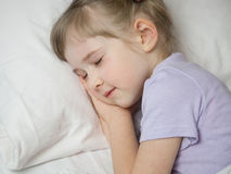 Pretty little girl sleepping Royalty Free Stock Images