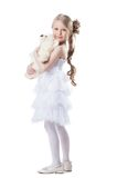 Pretty little girl with soft toy Stock Image