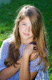 Pretty little girl in sunshine Royalty Free Stock Images