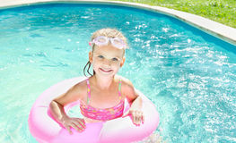 Pretty Little Girl In Swimming Pool Royalty Free Stock Photo Image 32179415