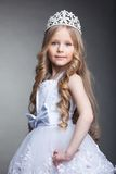 Pretty little girl in tiara. Studio portrait of pretty little girl in tiara Royalty Free Stock Image