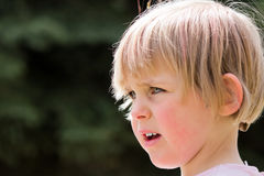 Pretty little girl with trees in background Royalty Free Stock Images