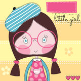 Pretty little girl vector illustration Stock Photos