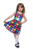 Pretty little girl walks Stock Images