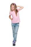 Pretty little girl walks Stock Image