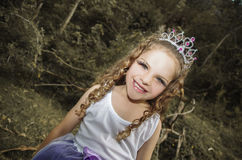Pretty little girl wearing a fairy costume Stock Photos