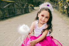 Pretty little girl wearing a fairy costume Stock Photography