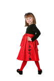 Pretty little girl wearing holiday dress Royalty Free Stock Image