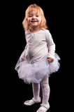 Pretty little girl in white dress Royalty Free Stock Image