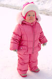 Pretty little girl in winter outerwear. Royalty Free Stock Images