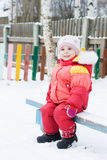 Pretty little girl in winter outerwear Stock Photography