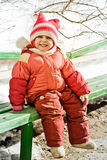 Pretty little girl in winter Stock Photo