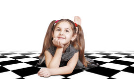 Free Pretty Little Girl With Long Hair Stock Photography - 22379192
