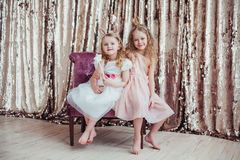 Pretty little girls Royalty Free Stock Photos