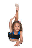 Pretty little gymnast Royalty Free Stock Photos
