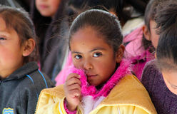 Pretty little mexican girl close up Royalty Free Stock Image