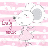 Pretty little mouse vector illustration Stock Images