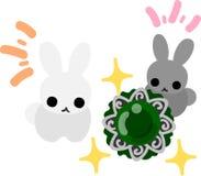 Pretty Little Rabbits Stock Photo